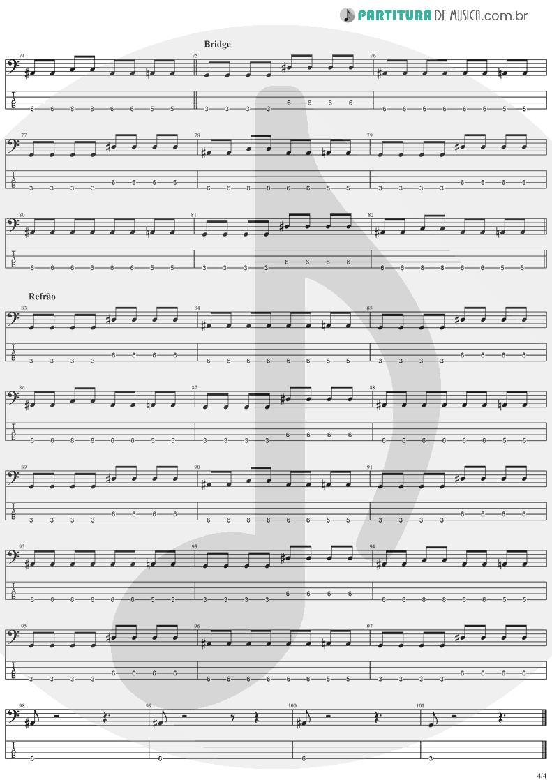 Tablatura + Partitura de musica de Baixo Elétrico - Salvation   The Cranberries   To the Faithful Departed 1996 - pag 4