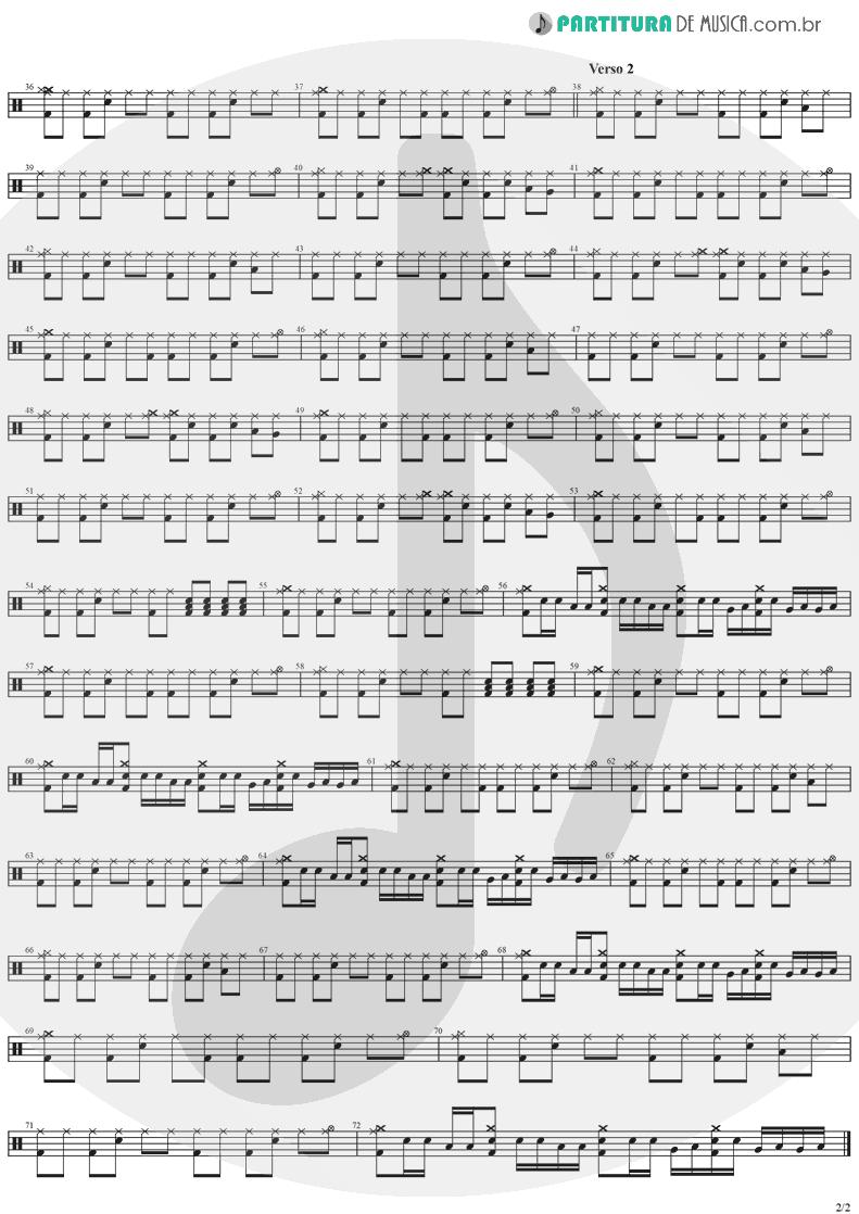 Partitura de musica de Bateria - When You're Gone | The Cranberries | To the Faithful Departed 1996 - pag 2