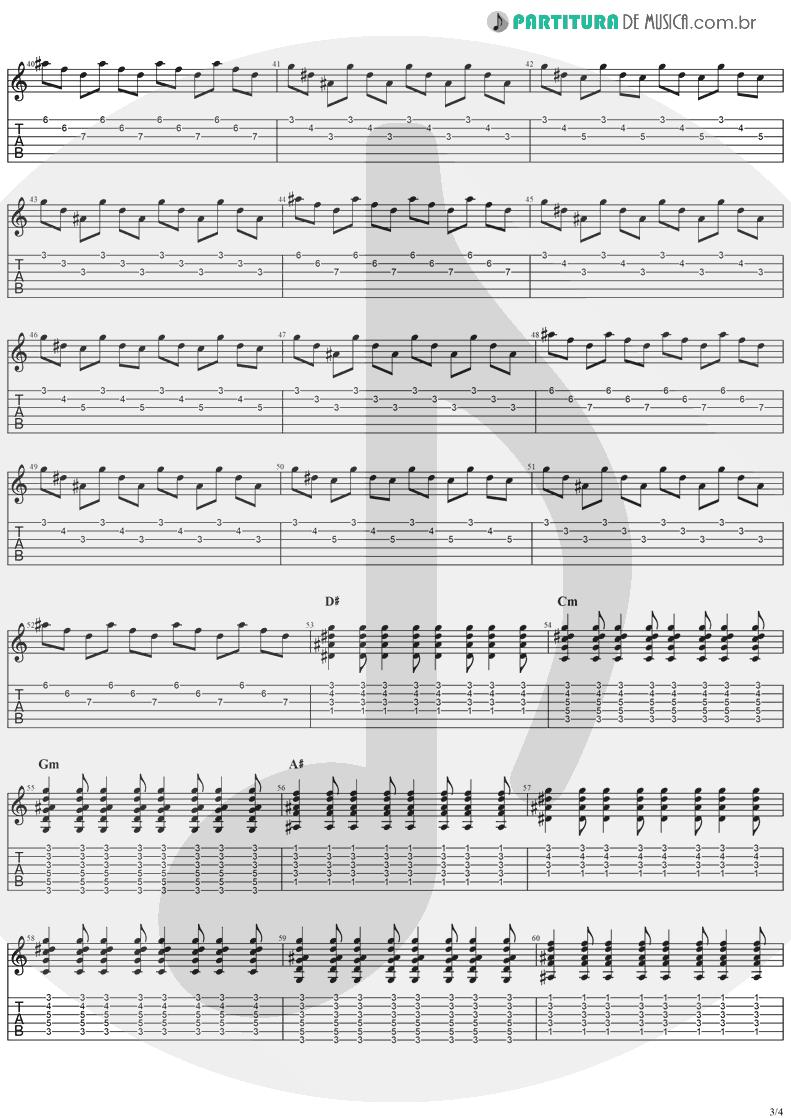 Tablatura + Partitura de musica de Guitarra Elétrica - When You're Gone | The Cranberries | To the Faithful Departed 1996 - pag 3