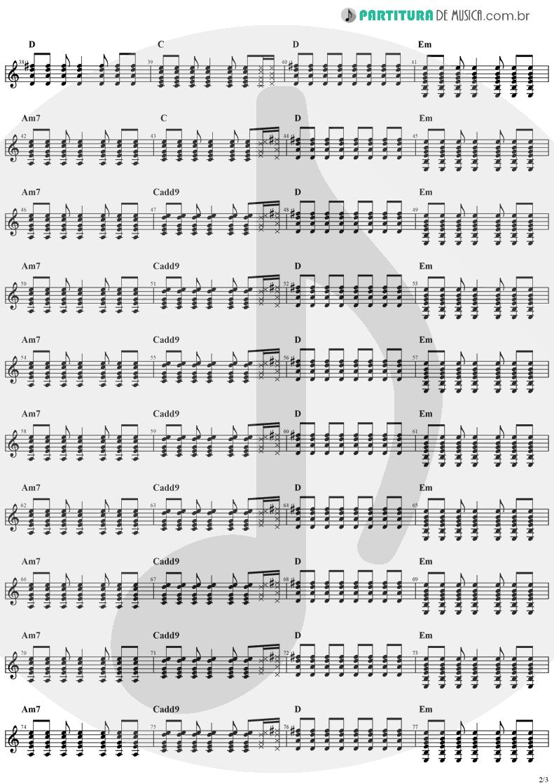 Partitura de musica de Guitarra Elétrica - Animal Instinct | The Cranberries | Bury the Hatchet 1999 - pag 2