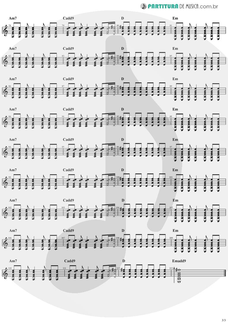 Partitura de musica de Guitarra Elétrica - Animal Instinct | The Cranberries | Bury the Hatchet 1999 - pag 3