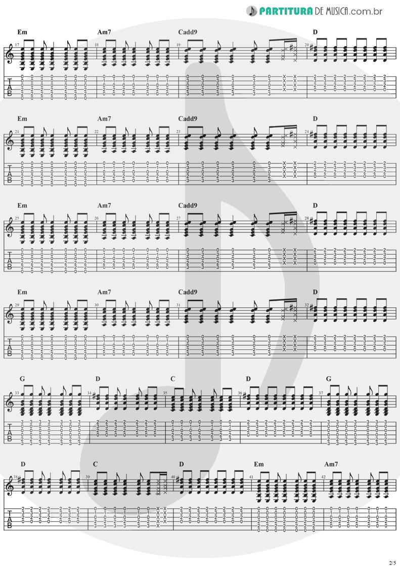 Tablatura + Partitura de musica de Guitarra Elétrica - Animal Instinct | The Cranberries | Bury the Hatchet 1999 - pag 2