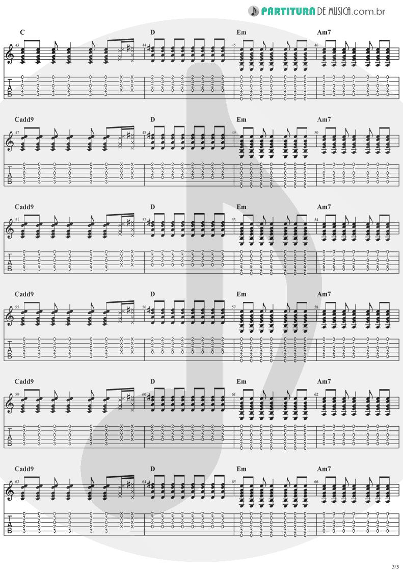 Tablatura + Partitura de musica de Guitarra Elétrica - Animal Instinct | The Cranberries | Bury the Hatchet 1999 - pag 3