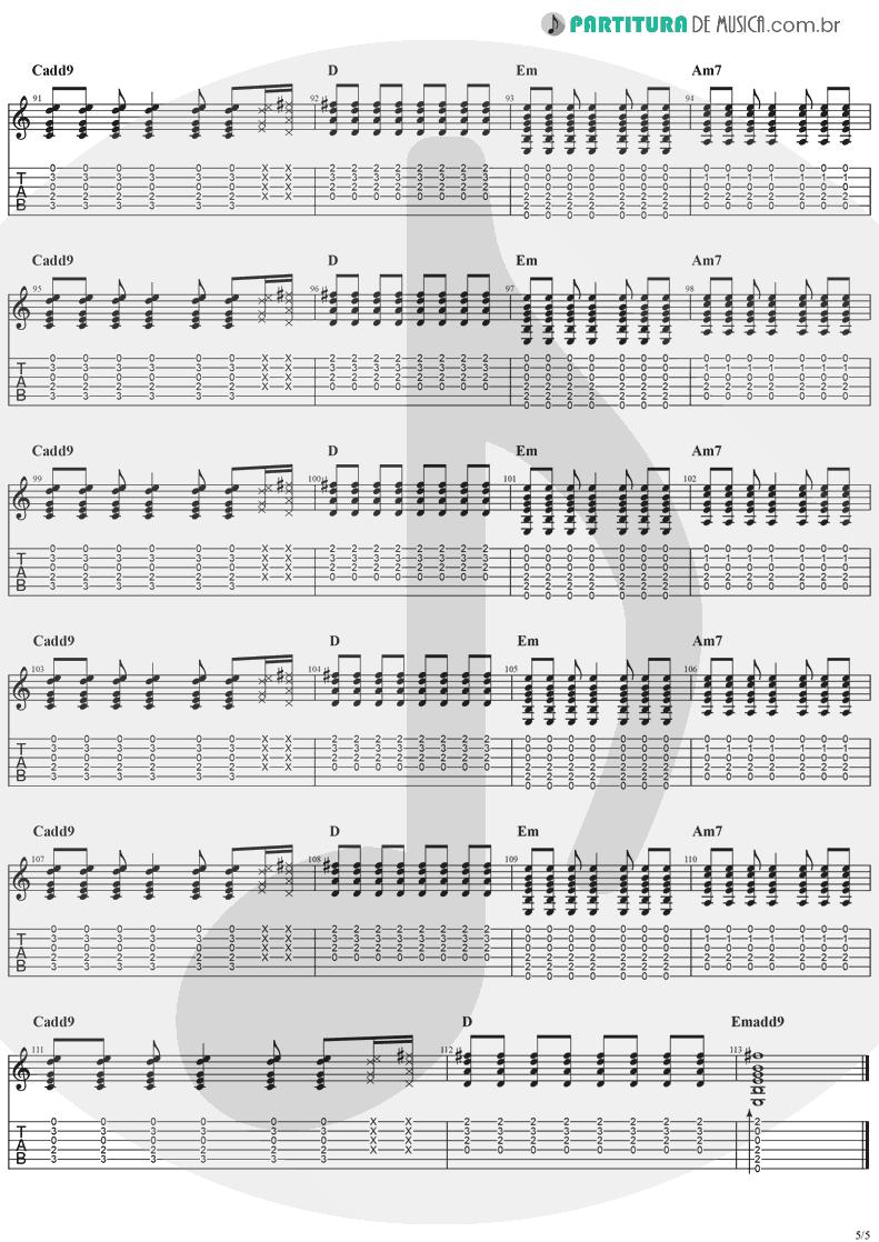 Tablatura + Partitura de musica de Guitarra Elétrica - Animal Instinct | The Cranberries | Bury the Hatchet 1999 - pag 5