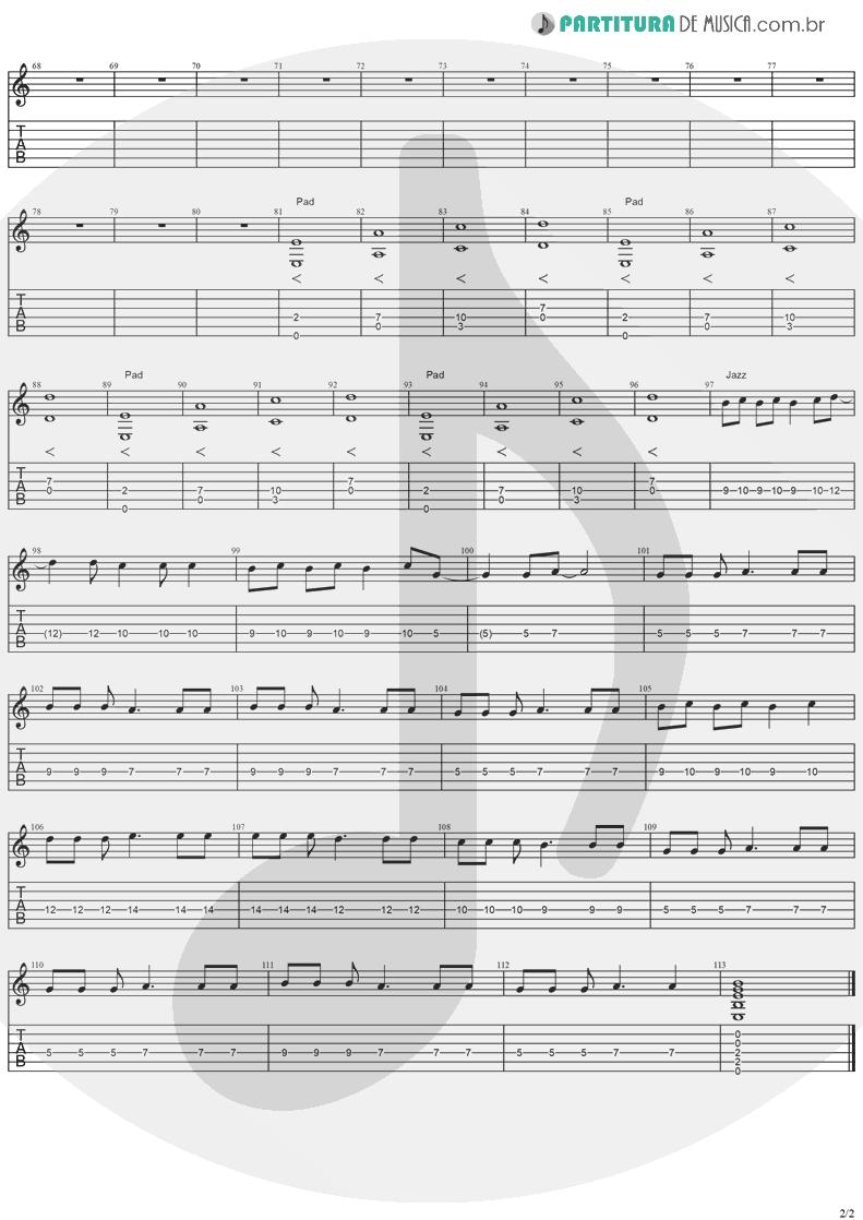 Tablatura + Partitura de musica de Guitarra Elétrica - Animal Instinct   The Cranberries   Bury the Hatchet 1999 - pag 2