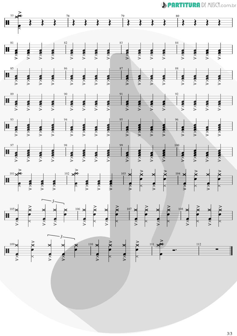 Partitura de musica de Bateria - Seven Nation Army | The White Stripes | Elephant 2003 - pag 3