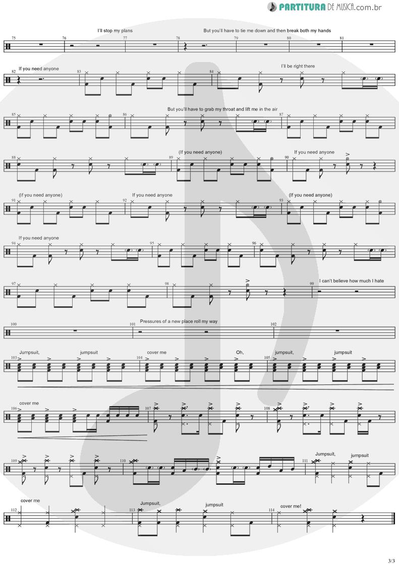 Partitura de musica de Bateria - Jumpsuit | Twenty One Pilots | Trench 2018 - pag 3