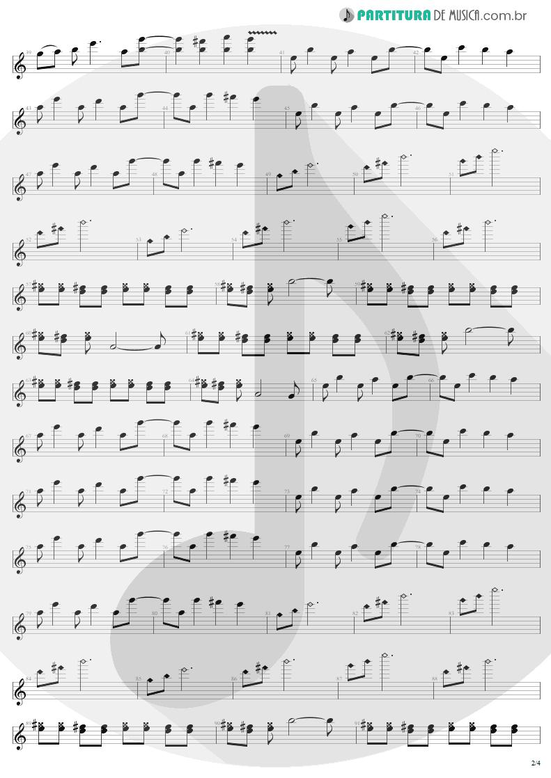 Partitura de musica de Guitarra Elétrica - 11 O'Clock Tick Tock | U2 | Under a Blood Red Sky 1983 - pag 2