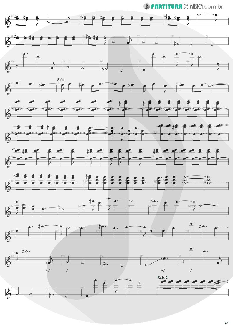 Partitura de musica de Guitarra Elétrica - 11 O'Clock Tick Tock | U2 | Under a Blood Red Sky 1983 - pag 3