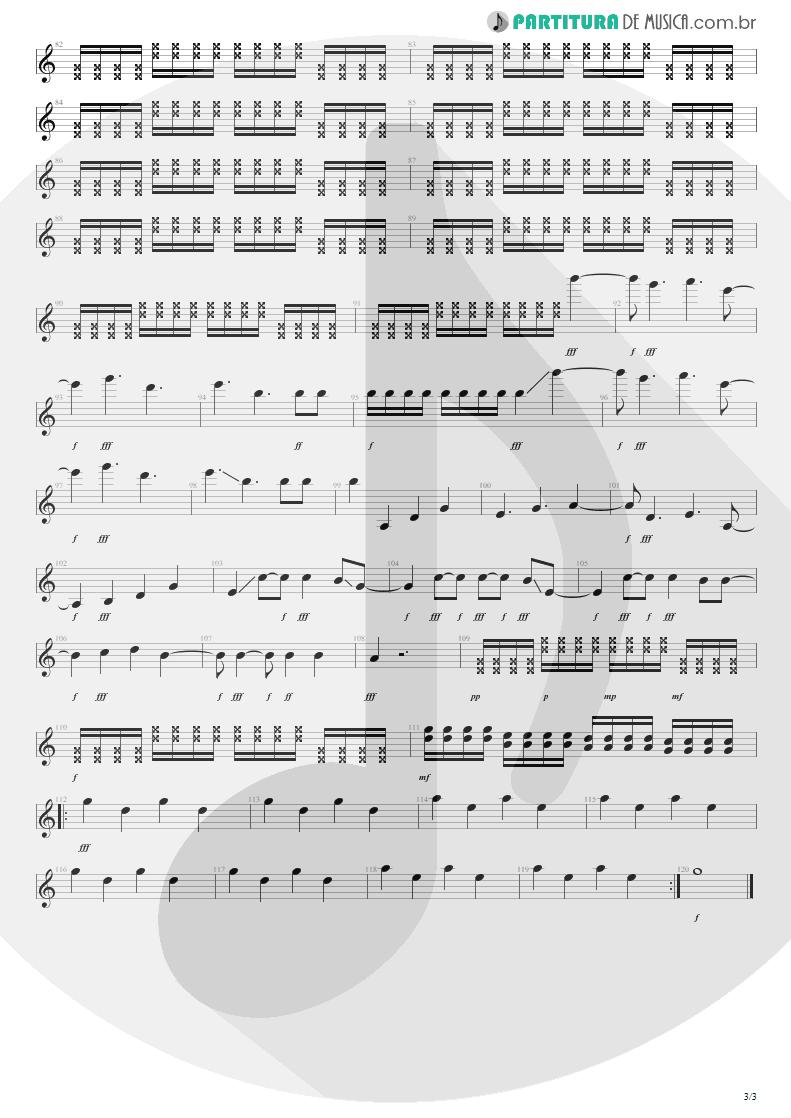 Partitura de musica de Guitarra Elétrica - New Years Day | U2 | War 1983 - pag 3