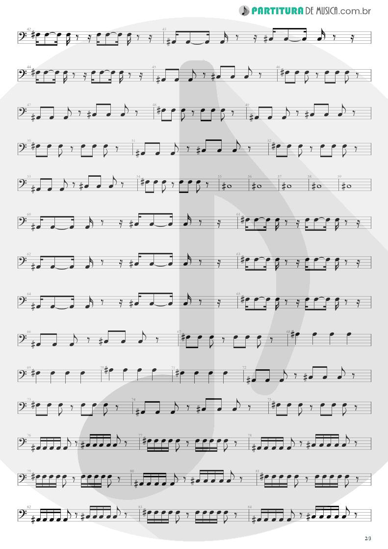 Partitura de musica de Baixo Elétrico - Sunday Bloody Sunday | U2 | War 1983 - pag 2