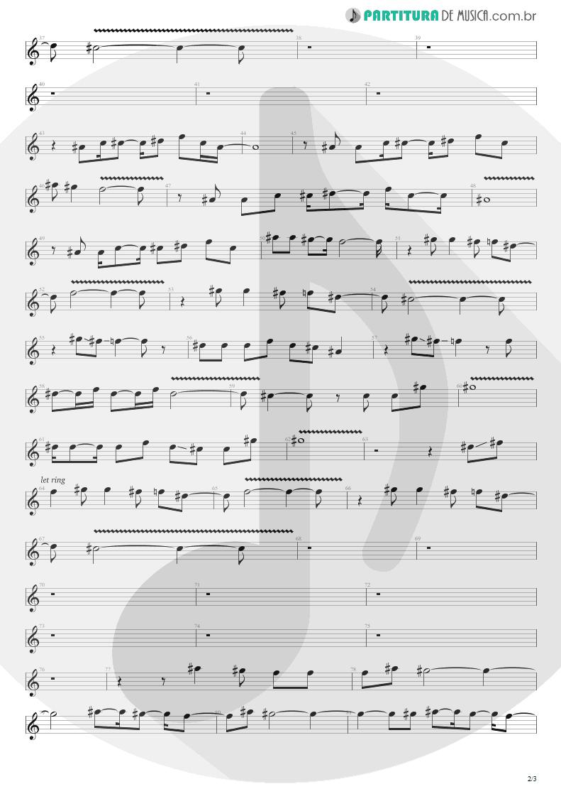 Partitura de musica de Canto - Sunday Bloody Sunday | U2 | War 1983 - pag 2