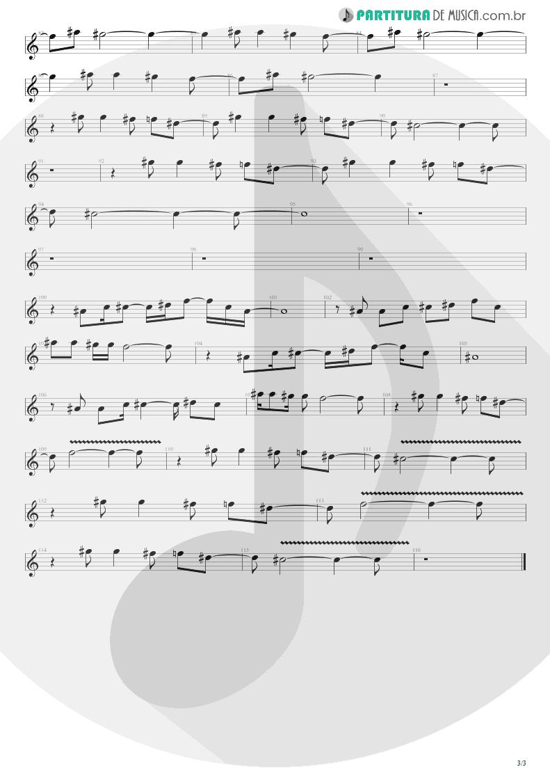 Partitura de musica de Canto - Sunday Bloody Sunday | U2 | War 1983 - pag 3