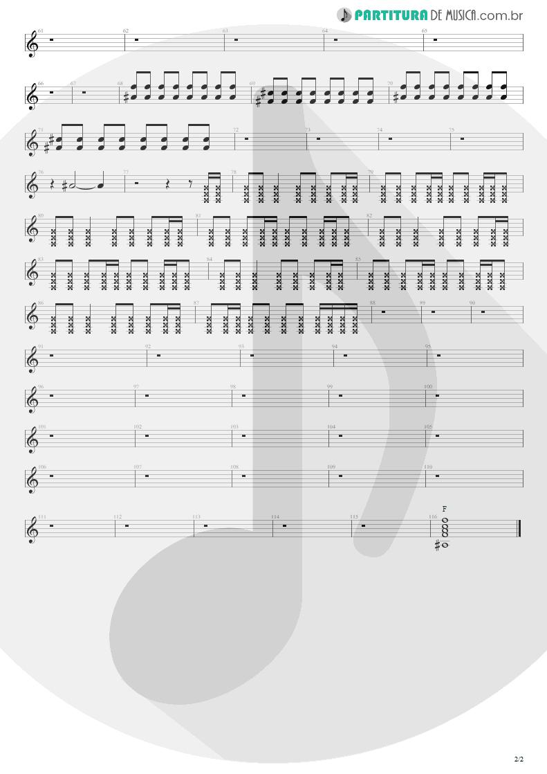 Partitura de musica de Guitarra Elétrica - Sunday Bloody Sunday | U2 | War 1983 - pag 2