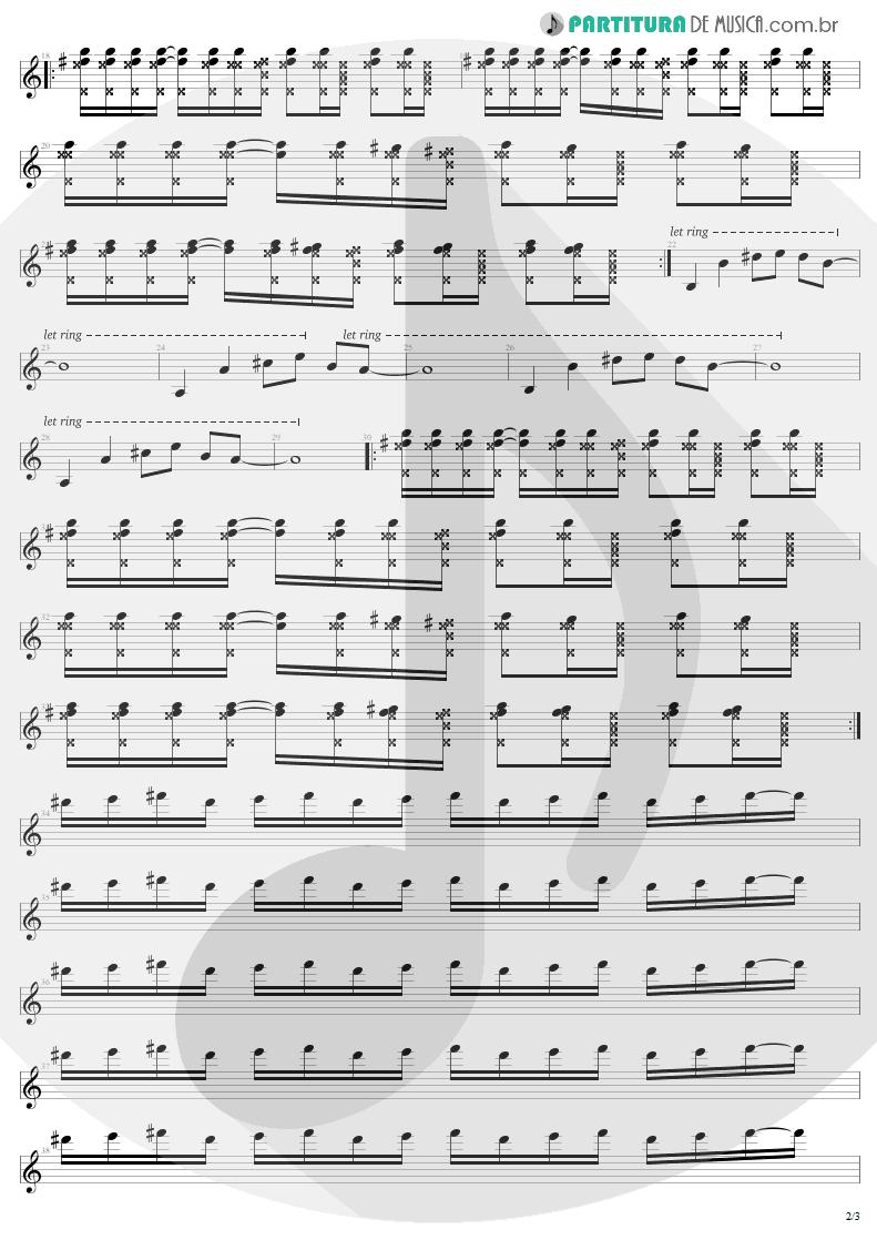Partitura de musica de Guitarra Elétrica - Pride   U2   The Unforgettable Fire 1984 - pag 2