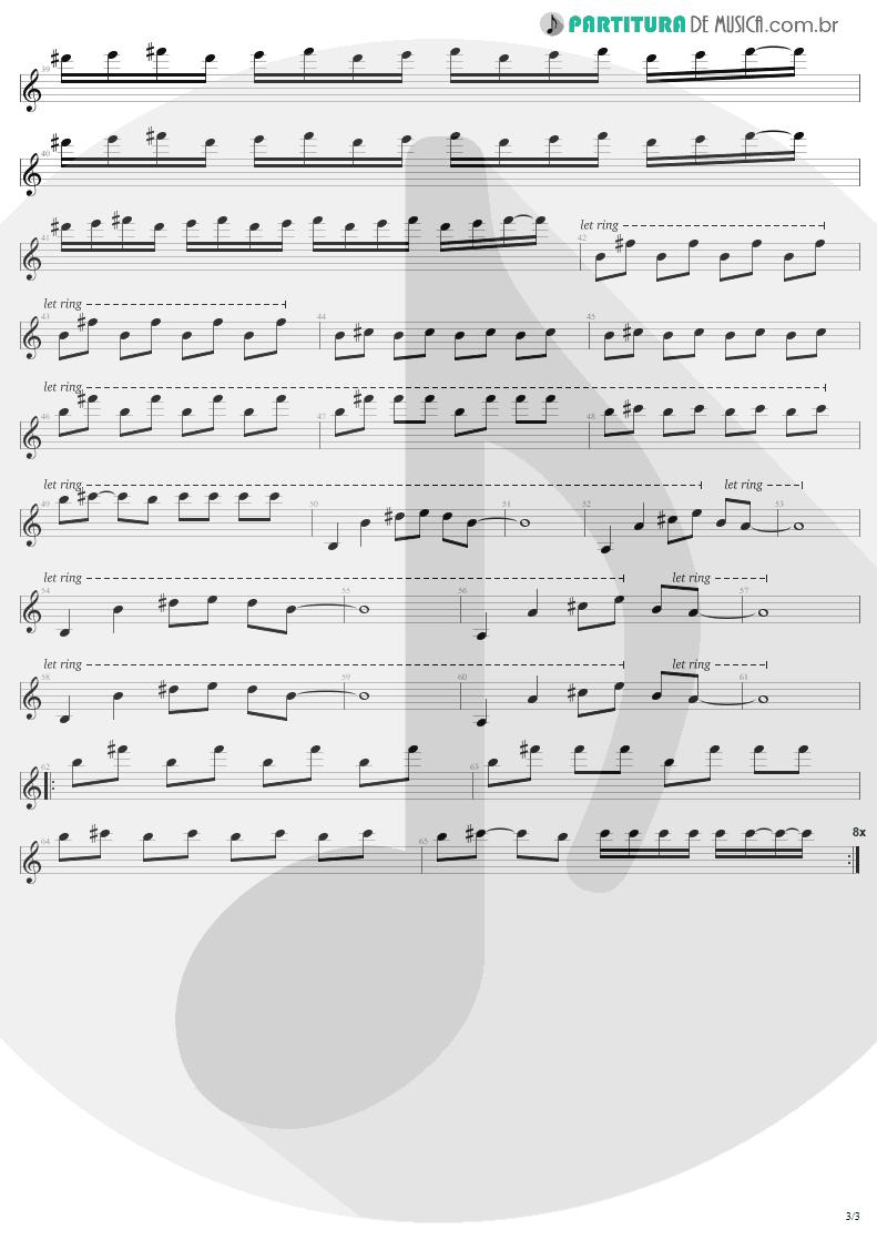 Partitura de musica de Guitarra Elétrica - Pride   U2   The Unforgettable Fire 1984 - pag 3