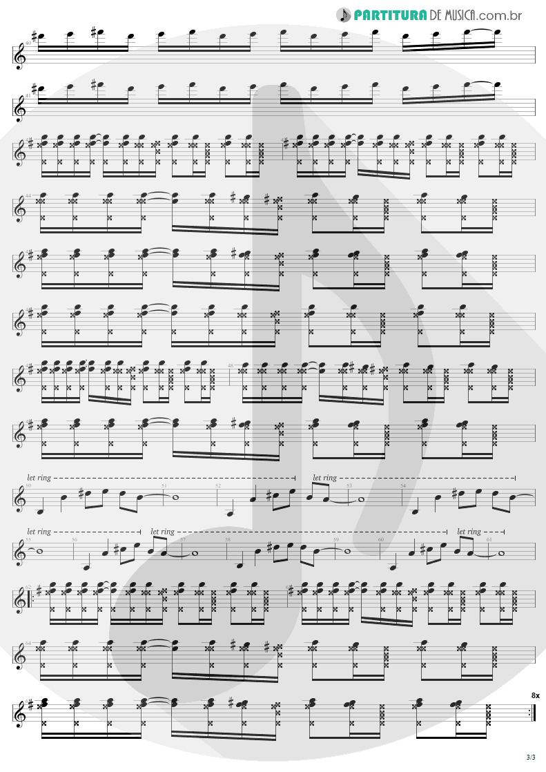 Partitura de musica de Guitarra Elétrica - Pride | U2 | The Unforgettable Fire 1984 - pag 3