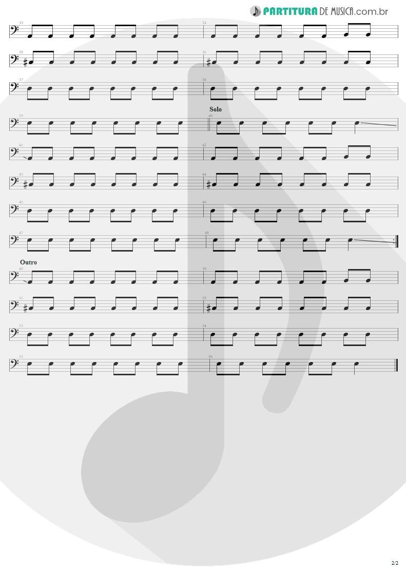 Partitura de musica de Baixo Elétrico - Christmas | U2 | A Very Special Christmas 1987 - pag 2