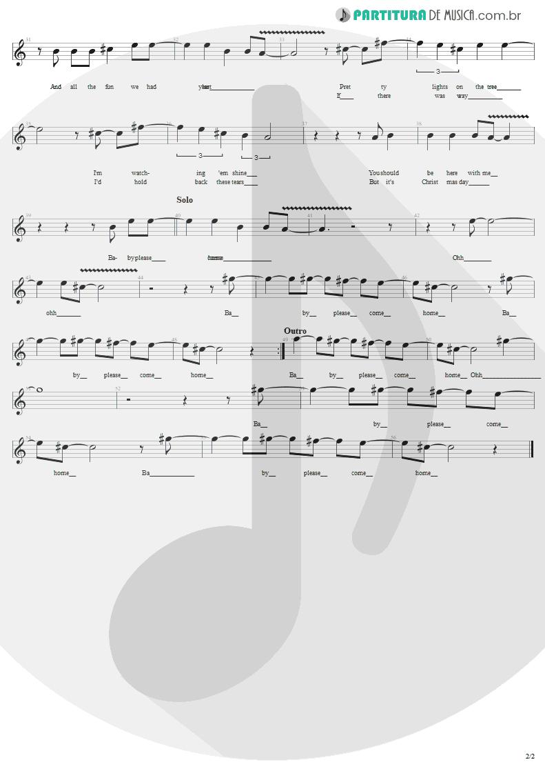 Partitura de musica de Canto - Christmas   U2   A Very Special Christmas 1987 - pag 2