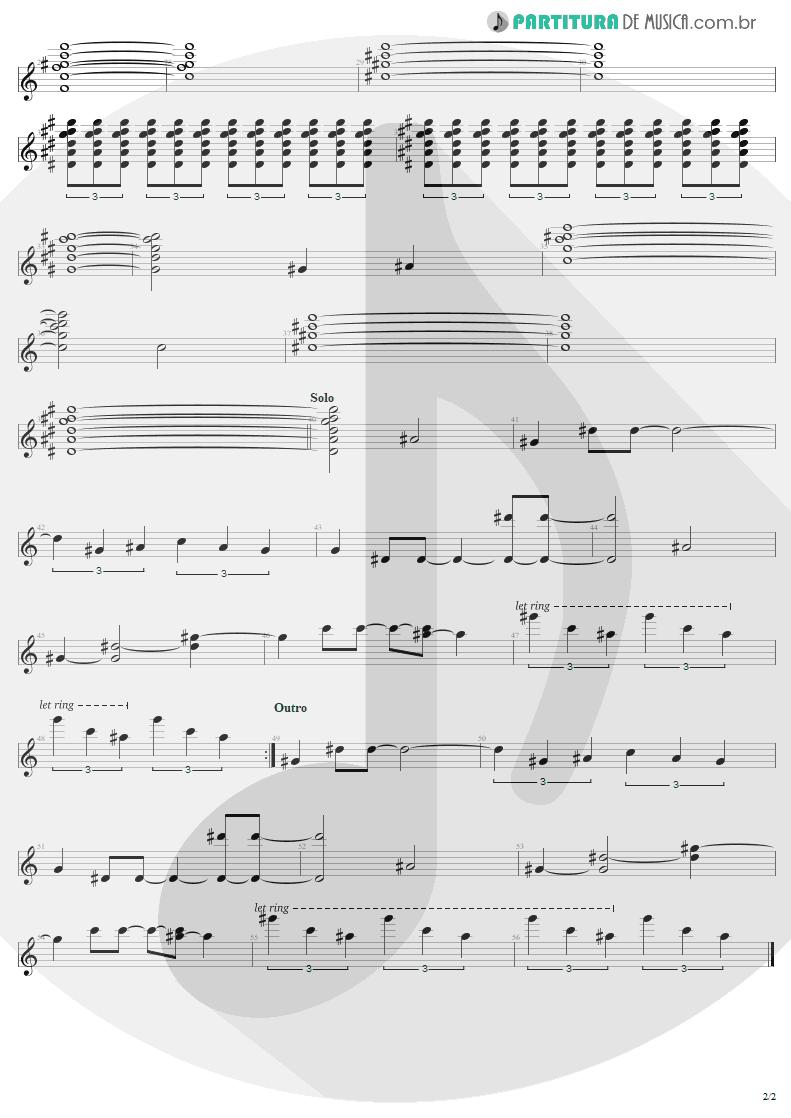 Partitura de musica de Guitarra Elétrica - Christmas   U2   A Very Special Christmas 1987 - pag 2