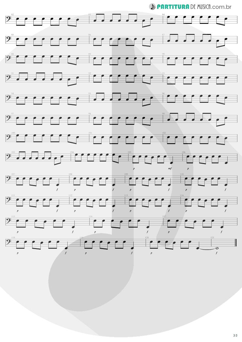 Partitura de musica de Baixo Elétrico - Exit | U2 | The Joshua Tree 1987 - pag 3