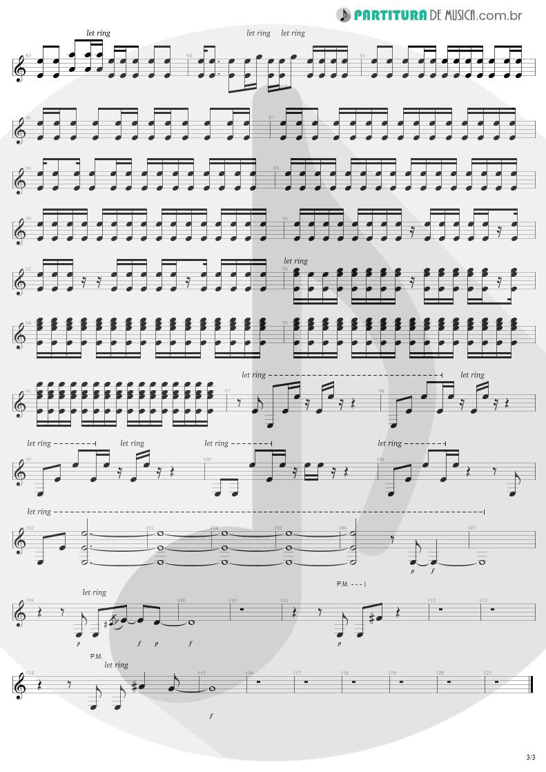 Partitura de musica de Guitarra Elétrica - Exit | U2 | The Joshua Tree 1987 - pag 3