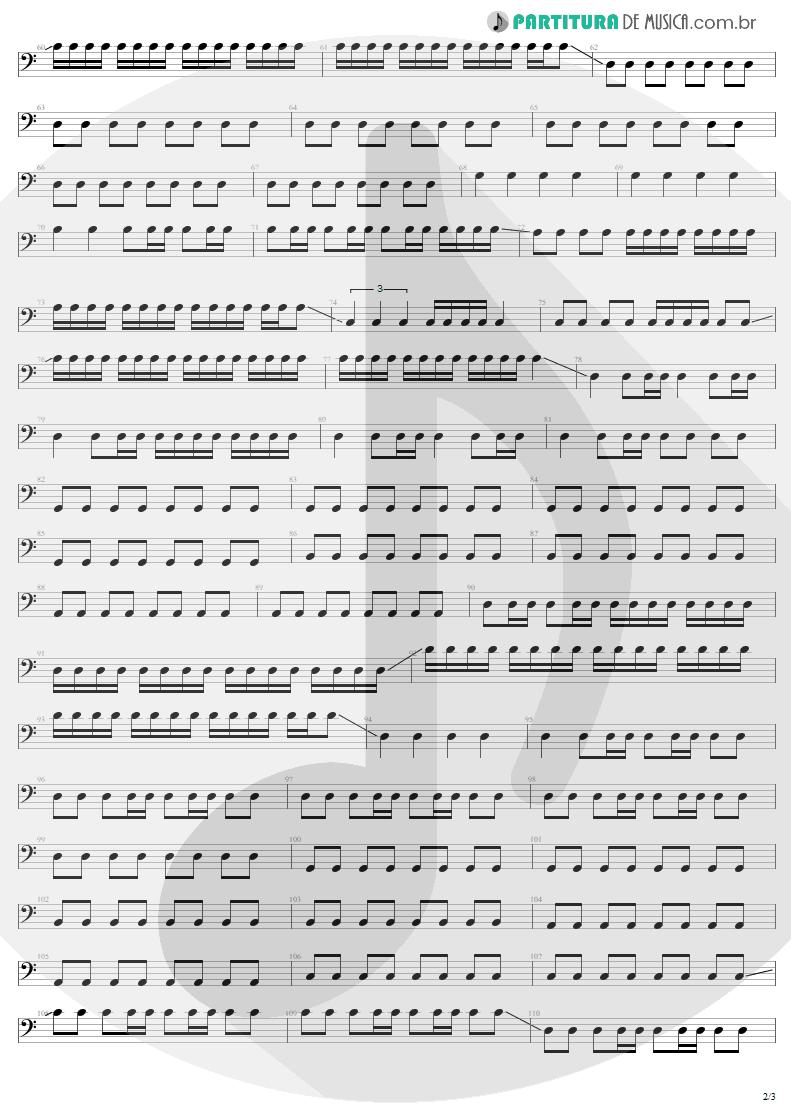 Partitura de musica de Baixo Elétrico - Where The Streets Have No Name | U2 | The Joshua Tree 1987 - pag 2