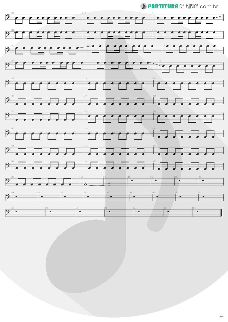 Partitura de musica de Baixo Elétrico - Where The Streets Have No Name | U2 | The Joshua Tree 1987 - pag 3
