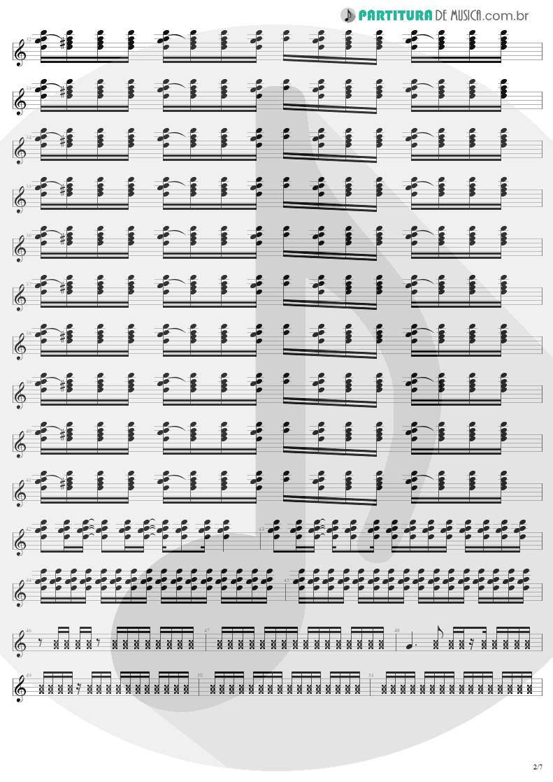 Partitura de musica de Guitarra Elétrica - Where The Streets Have No Name   U2   The Joshua Tree 1987 - pag 2
