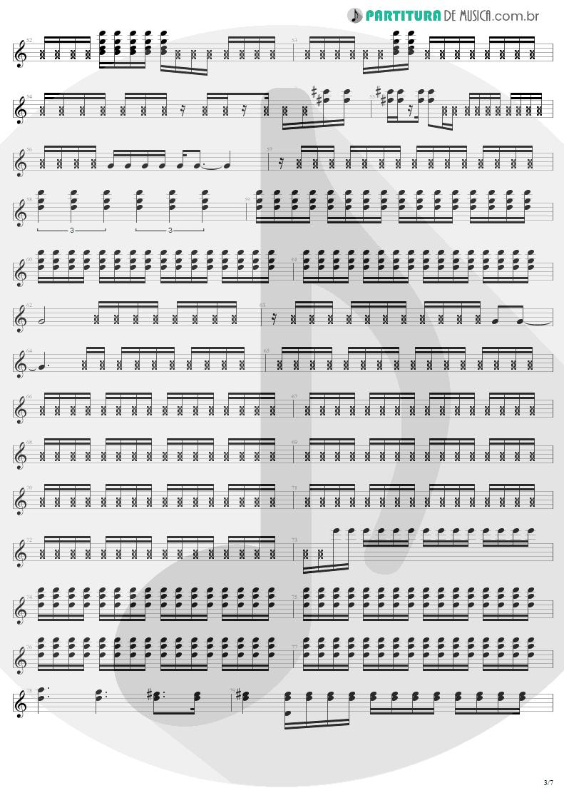 Partitura de musica de Guitarra Elétrica - Where The Streets Have No Name   U2   The Joshua Tree 1987 - pag 3