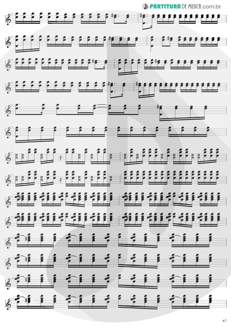 Partitura de musica de Guitarra Elétrica - Where The Streets Have No Name   U2   The Joshua Tree 1987 - pag 4