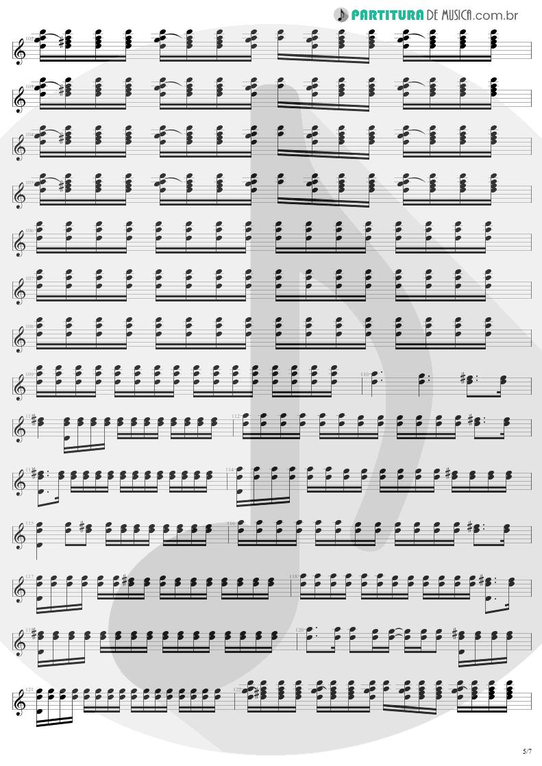 Partitura de musica de Guitarra Elétrica - Where The Streets Have No Name   U2   The Joshua Tree 1987 - pag 5