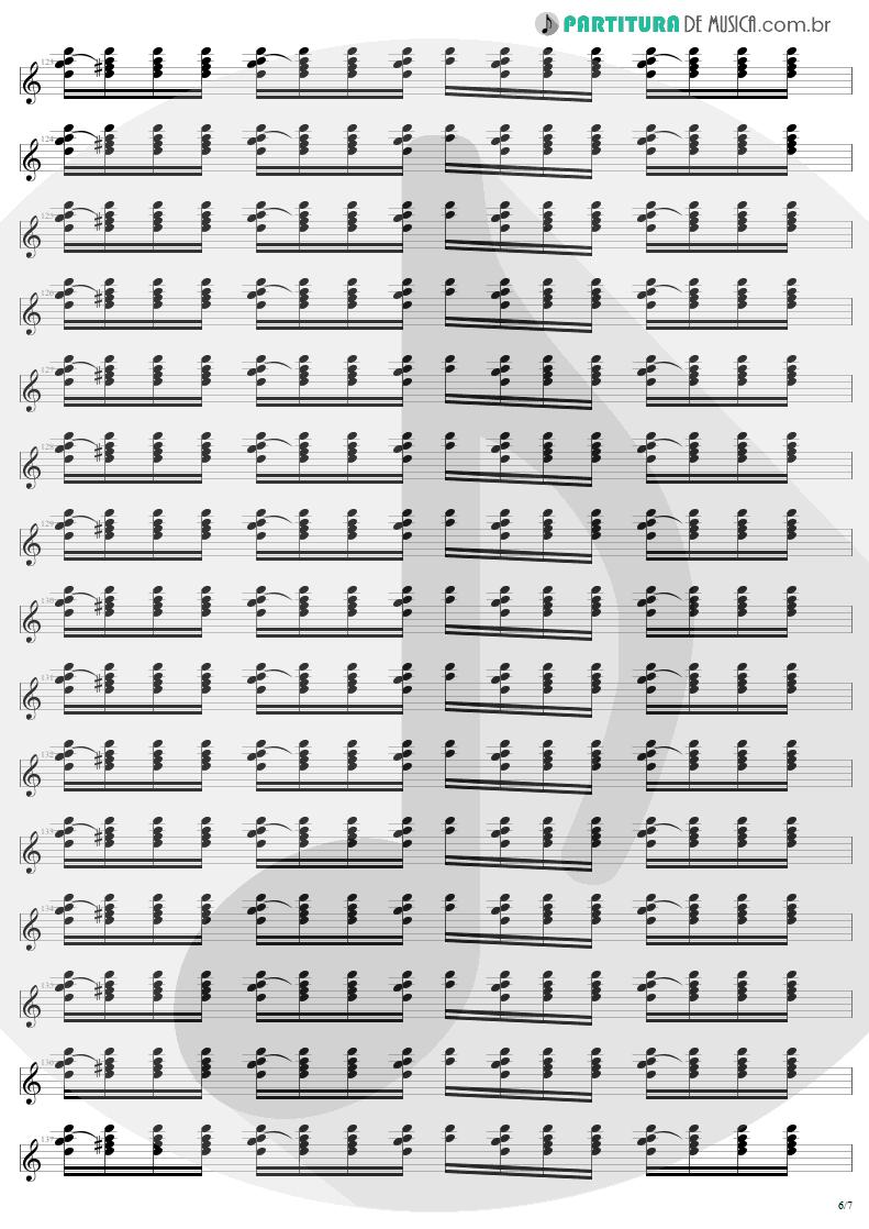 Partitura de musica de Guitarra Elétrica - Where The Streets Have No Name   U2   The Joshua Tree 1987 - pag 6