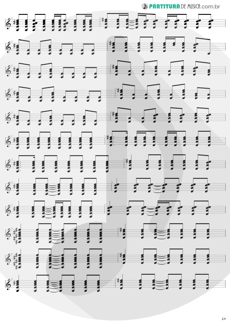 Partitura de musica de Guitarra Elétrica - All I Want Is You   U2   Rattle and Hum 1988 - pag 2