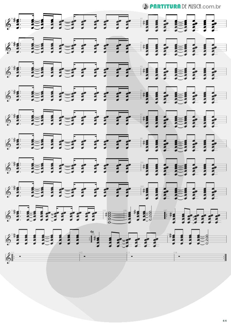 Partitura de musica - Guitarra Elétrica | All I Want Is You