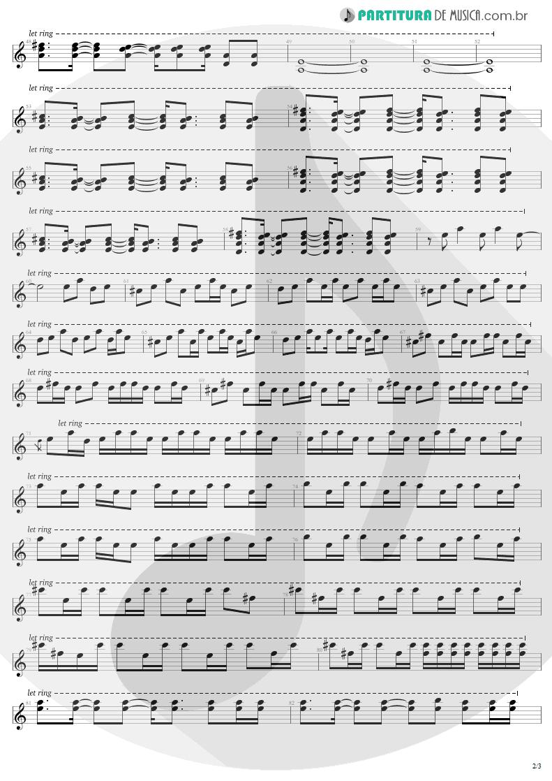 Partitura de musica de Guitarra Elétrica - All I Want Is You | U2 | Rattle and Hum 1988 - pag 2
