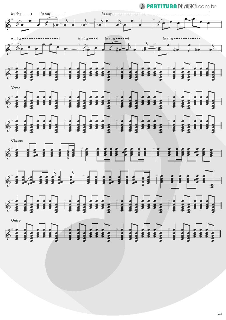 Partitura de musica de Guitarra Elétrica - Angel Of Harlem | U2 | Rattle and Hum 1988 - pag 2