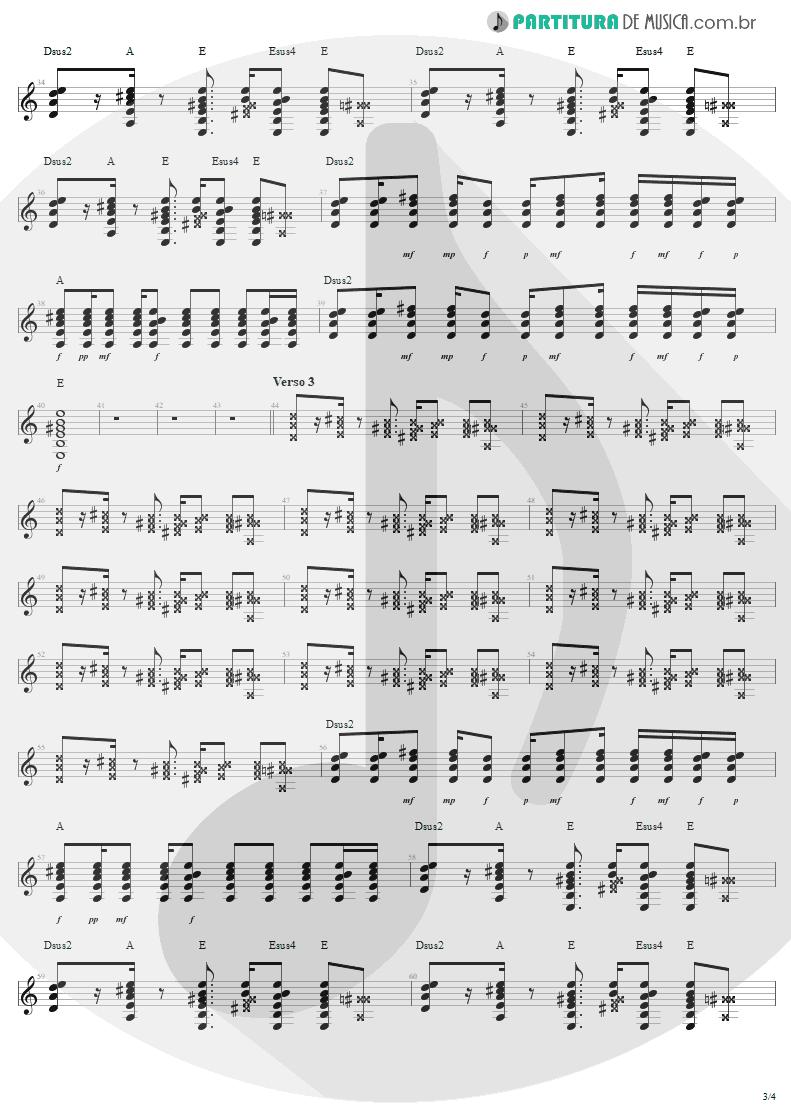 Partitura de musica de Guitarra Elétrica - Desire   U2   Rattle and Hum 1988 - pag 3