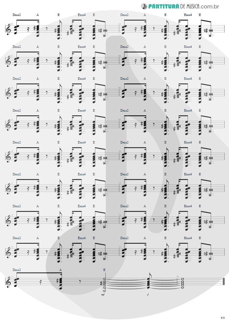 Partitura de musica de Guitarra Elétrica - Desire   U2   Rattle and Hum 1988 - pag 4