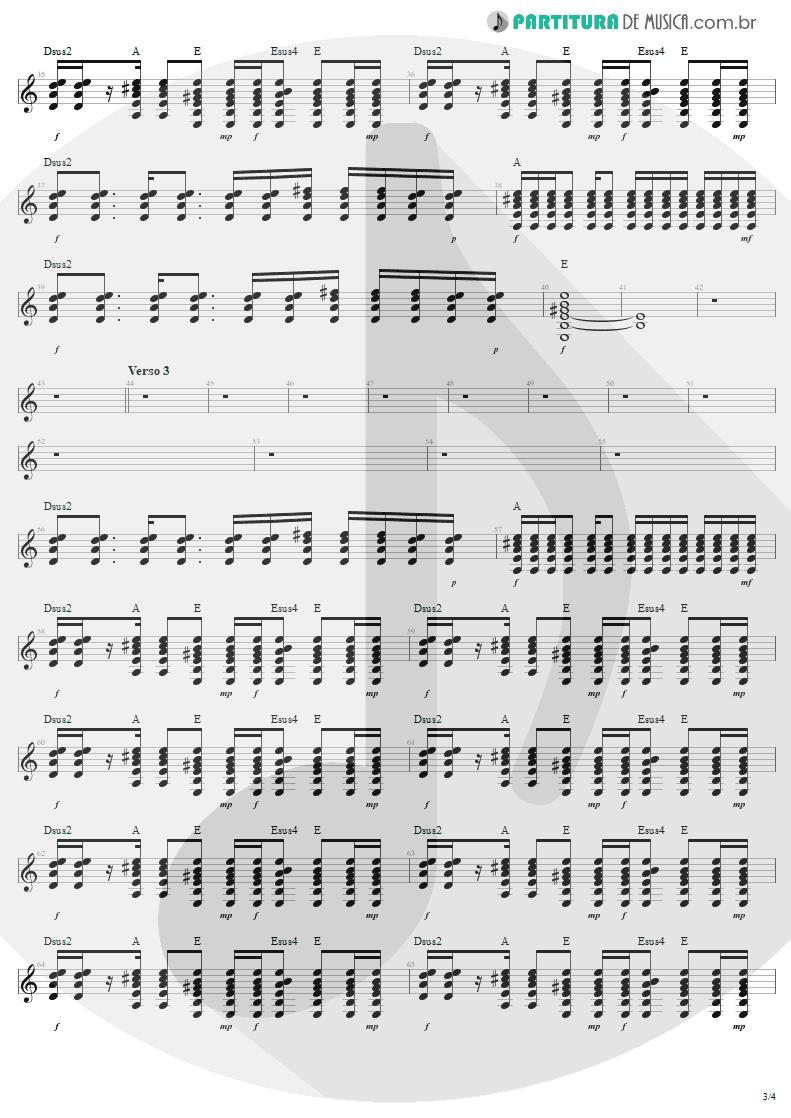 Partitura de musica de Guitarra Elétrica - Desire | U2 | Rattle and Hum 1988 - pag 3