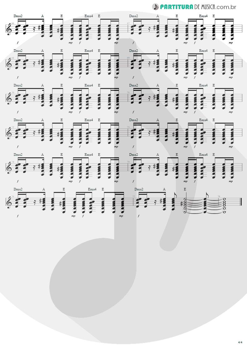 Partitura de musica de Guitarra Elétrica - Desire | U2 | Rattle and Hum 1988 - pag 4