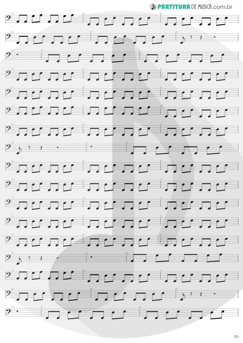 Partitura de musica de Baixo Elétrico - When Love Comes To Town | U2 | Rattle and Hum 1988 - pag 2