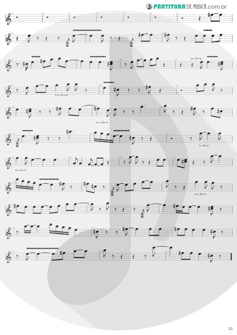Partitura de musica de Guitarra Elétrica - When Love Comes To Town | U2 | Rattle and Hum 1988 - pag 2
