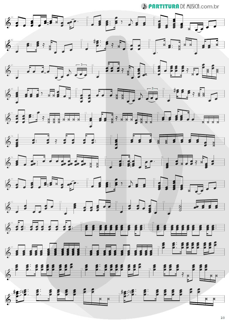 Partitura de musica de Guitarra Elétrica - One   U2   Achtung Baby 1991 - pag 2