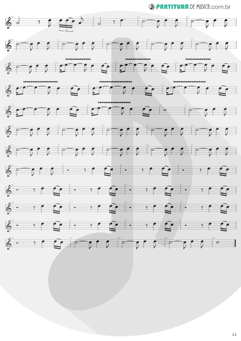 Partitura de musica de Guitarra Elétrica - One | U2 | Achtung Baby 1991 - pag 2