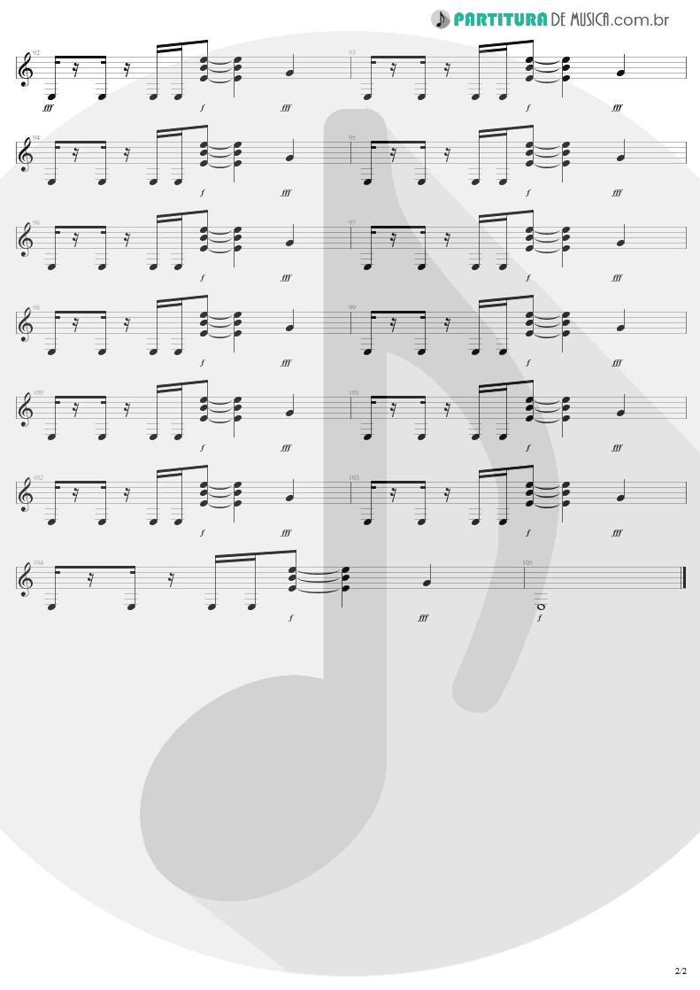 Partitura de musica de Guitarra Elétrica - The Fly | U2 | Achtung Baby 1991 - pag 2