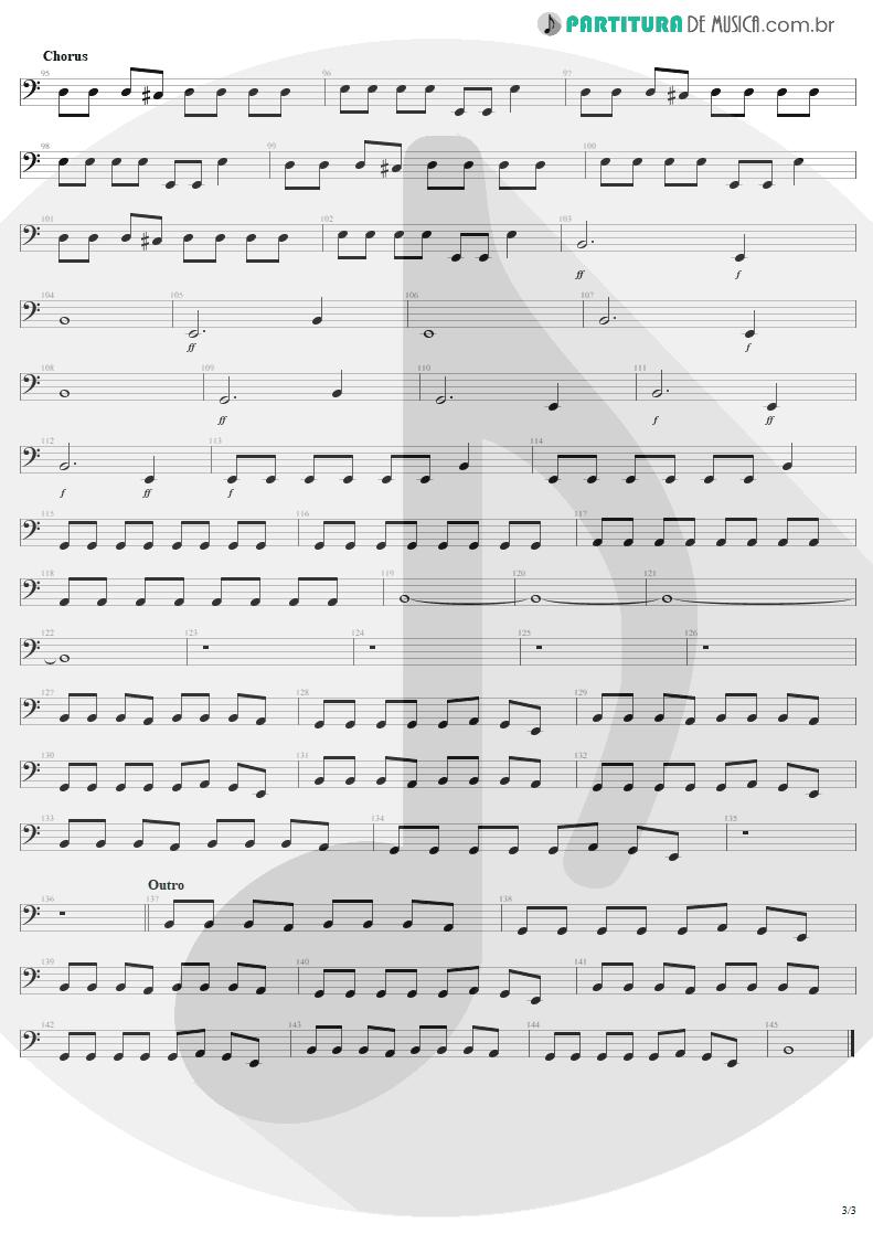 Partitura de musica de Baixo Elétrico - Discotheque | U2 | Pop 1997 - pag 3