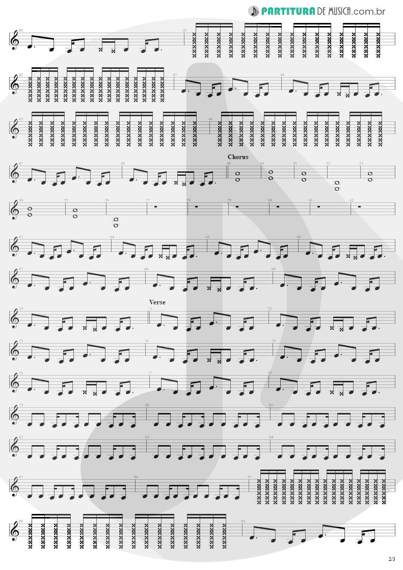 Partitura de musica de Guitarra Elétrica - Discotheque | U2 | Pop 1997 - pag 2