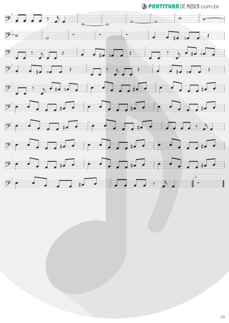 Partitura de musica de Baixo Elétrico - Elevation   U2   All That You Can't Leave Behind 2000 - pag 2
