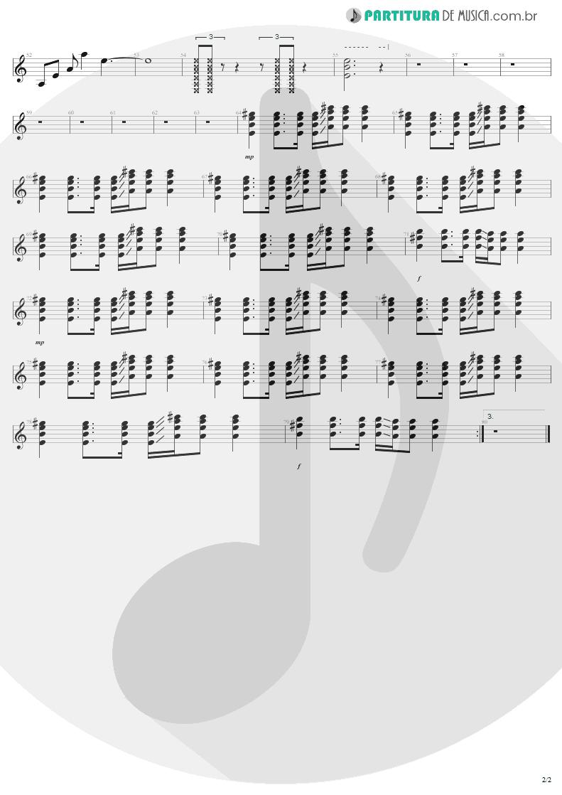 Partitura de musica de Guitarra Elétrica - Elevation   U2   All That You Can't Leave Behind 2000 - pag 2